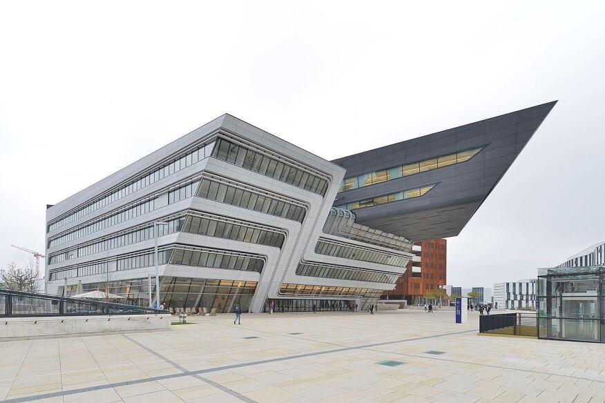 The Library and Learning Center at the Vienna University of Economics and Business by Zaha Hadid.