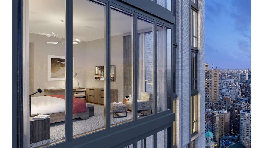 Near New York City's newly opened Second Avenue Subway, health-oriented condo Citizen360 offers young and older affluent buyers alike an array of amenities, with shared spaces including a pool, on-site parking, and a kids'/grandkids' playroom.