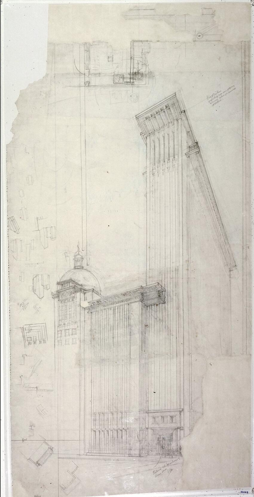 Perspective of the San Francisco Call Building (1912).