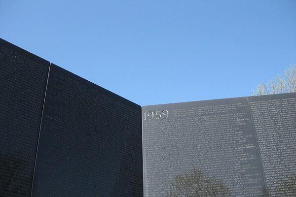 The Vietnam Veterans Memorial Wall.