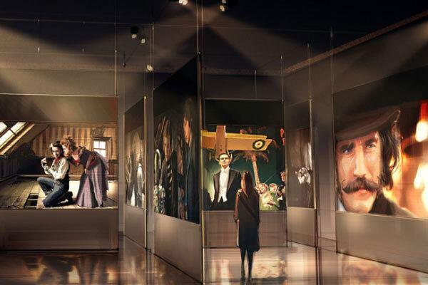 A rendering of the museum exhibit.