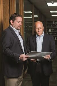 Jeff Woda (left) and David Cooper Jr., co-principals, The Woda Group.