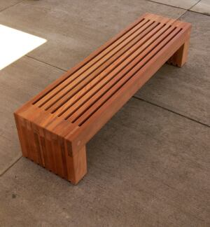 The Palisade bench brings a warm, angular look to exterior projects. Kalamazoo, Mich.-based Landscape Forms crafts the bench from blocks of solid jarrah or redwood fastened with internal steel rods. The product is then sanded and left unfinished to weather to a pewter gray color. At 19 inches deep and 16 inches high, Palisade can be specified in 72-inch or 96-inch lengths. Landscape Forms, 800.430.6209; www.landscapeforms.com.