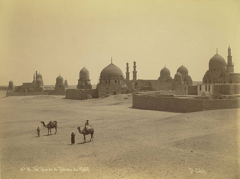 Tomb of the Abbasid Caliphs in Egypt (circa 1860); eight wood beams were stolen from the dome and repatriated in 2016 after they were slated to be auctioned off in London.