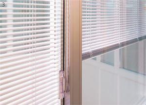 Pilkington PyrostopTechnical Glass Productswww.reglass.com  Fire- and impact-safety-rated, transparent glass wall panel that blocks heat transfer    Now available with Venetian blinds in a variety of colors encased within the glass    Suggested uses include office fronts within buildings, conference room windows, and private offices