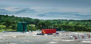 A natural gas site in the Marcellus Shale region.