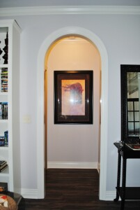 One of three types of arched openings, the circle top is actually a half circle. Tall ceilings are needed to accommodate this variety.