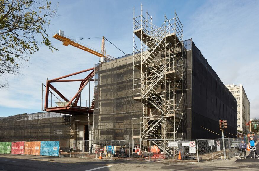 The museum's new building, designed by Diller Scofidio + Renfro, is under construction in downtown Berkeley.