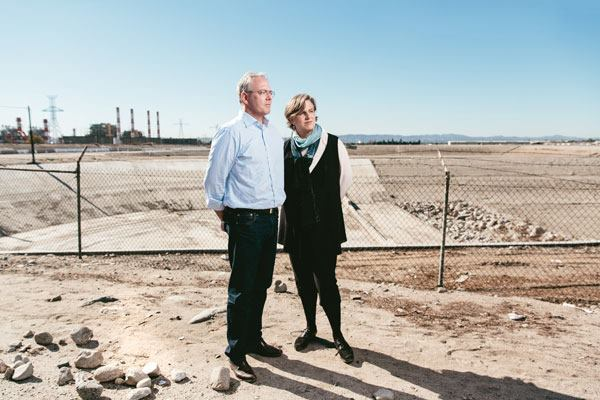 Peter and Hadley Arnold of Woodbury's Arid Lands Institute.