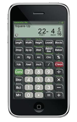 The tried-and-true construction calculator now fits on your cell phone as an app.