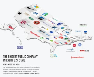 biggest public company in each states