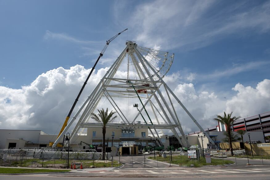 The under-construction Orlando Eye in Orlando, Fla.