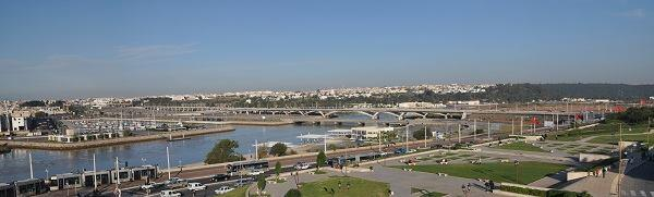 Hassan II Bridge, by Marc Mimram Architecture. General view of the bridge. Rabat and Salé, Morocco.