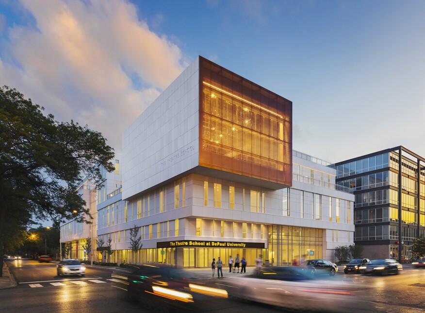 DePaul University, Theatre School, Location: Chicago IL, Architect: Pelli Clarke Pelli