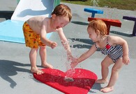 Tot Ground spray Covers - ARC's Tot line combines water, play and learning!