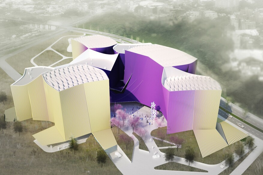 Murmur's proposal for the Taipei Museum of Art in Taiwan draws parallels between fashion and architecture: As clothing is to the body, the building envelope is to structure.