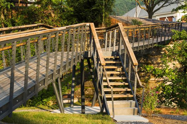 Smith Creek Pedestrian Bridge, Clifton Forge, Va., by Virginia Tech's design/buildLAB