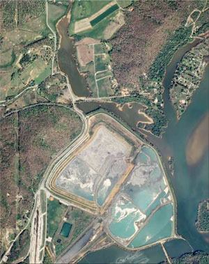 Before December 2008, when a dike ruptured at the TVA's Kingston, Tenn., power plant spilling 5.4 million cu. yds. of fly ash sludge.