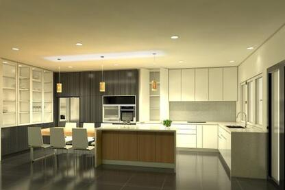 Stunning kitchen 3D render and shop drawings