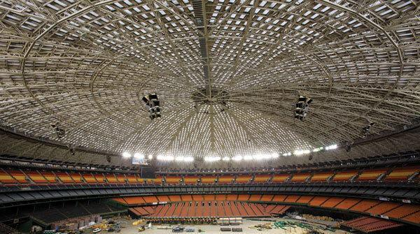 The inside of the dome reaches 200 feet high at its apex and stretches more than 600 feet across.