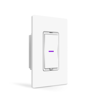 The iDevices Dimmer Switch, shown alongside the smartphone app control.