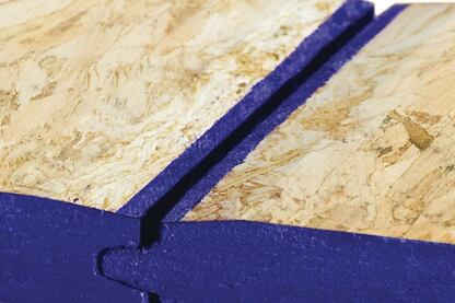 Chamfered PointSix Durastand Flooring solves the problem of swelling in weathered flooring.