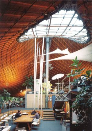 Institute for Lightweight Structures, interior, 1967, University of Stuttgart in Vaihingen