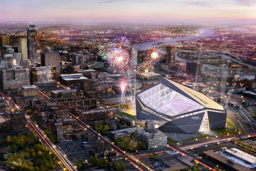 US Bank Stadium, the future home of the Minnesota Vikings, designed by HKS Architects