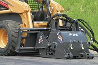 Skid-steer cold planing attachment