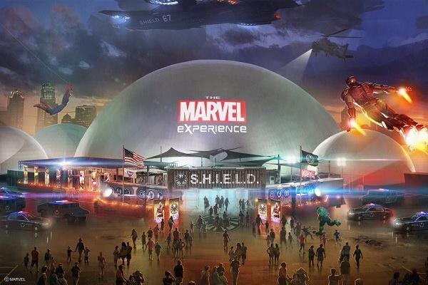 A rendering of The Marvel Experience dome complex set to tour the U.S. and Canada in 2014