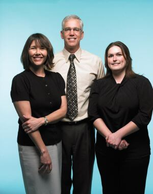 Left to right: Jo Anne Estes, CFO and controller; Kevin Estes, president and CEO; and Patricia Troxler, quality manager