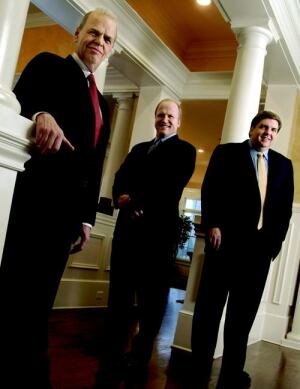 John Wieland (left), chairman and chief creative officer; Terry Russell (center), CEO; Eric Price (right), president and COO