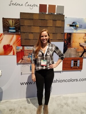 Mina Starsiak at the 2017 International Builders' Show in Orlando, Fla.