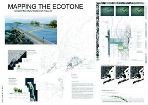 "A winning design: Ashley Kelly and Rikako Wakabayashi's proposal for Gateway, ""Mapping the Ecotone: Connecting Cities and Nature,"" emphasizes that the national recreation area is equal parts water and land."