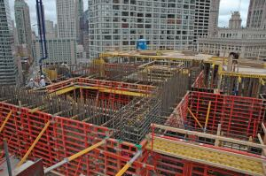Heavily reinforced elements led to the decision to use SCC on Trump Tower Chicago.