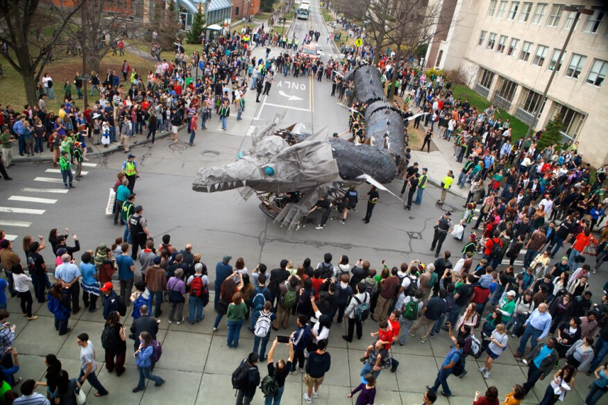 The dragon makes its way down East Avenue during Dragon Day 2012.