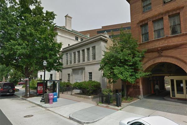 Google Street View image of current Patterson Mansion addition from P Street.