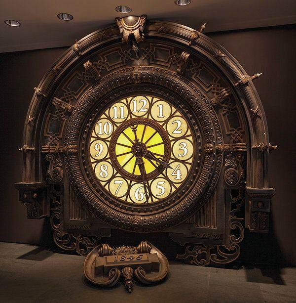 A clock from the Ferretti-designed set for Hugo, Scorsese's 2011 hit about an orphan boy in 1930s Paris.