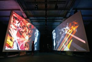 "In ""Hall of Fragments"", a 2008 Venice Architecture Biennale installation designed by the Rockwell Group and Jones