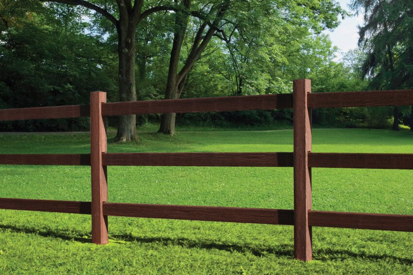 Fiberon Post and Rail fencing