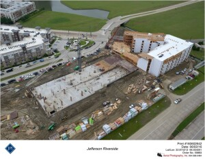 Using drones to keep visual track of project development can keep all team members, and company executives, in the know at every stage of construction.