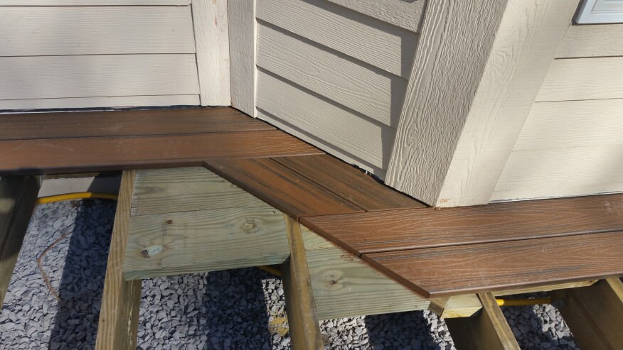 No Miter Method For Trimming Corners Professional Deck