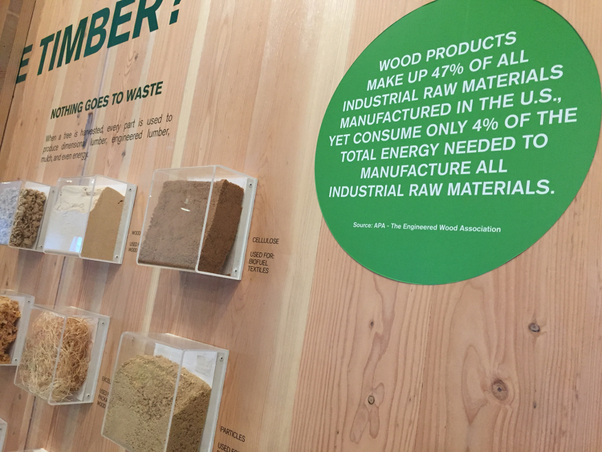 Part of the TimberCity exhibit, this time on energy use