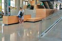 Atrium Glistens with Polished Concrete