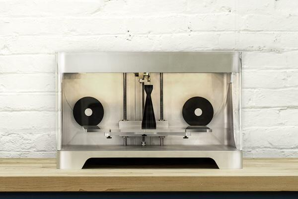 The Mark One 3D printer, available later this year, extrudes continuous carbon fiber.