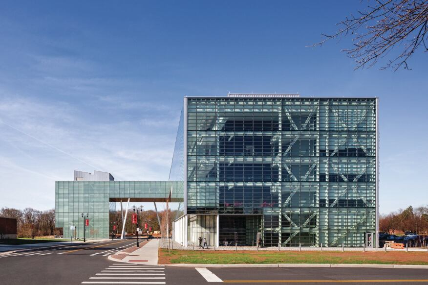 Rutgers business school architect magazine education L shaped building