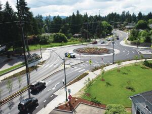 The Washington State DOT leveraged $4 million in federal aid to help Thurston County implement $14 million in capacity-enhancement projects including two roundabouts, planter strips and islands, and sewer and water upgrades.