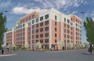 The Riverway Apartments in Brooklyn, N.Y., are under construction. Wells Fargo helped finance the property with a HUD loan.