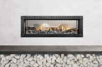 Linear Fireplaces Trend Up—Even Behind Barrier Screens
