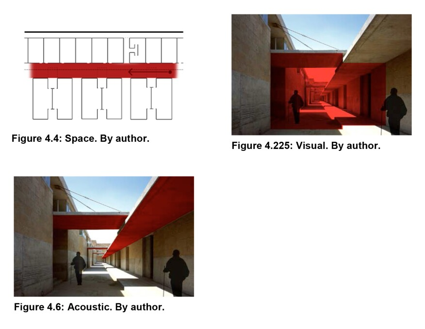 Images from Nolen's thesis that depict the Center for the Blind and Visually Impaired in Mexico City